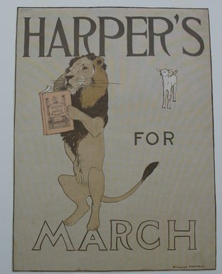 Edward Penfield (American, 1866-1925). <em>Harper's Poster - March 1894</em>, 1894. Lithograph on wove paper, Sheet: 15 13/16 x 11 7/8 in. (40.1 x 30.1 cm). Brooklyn Museum, Dick S. Ramsay Fund, 53.167.8 (Photo: Brooklyn Museum, CUR.53.167.8.jpg)