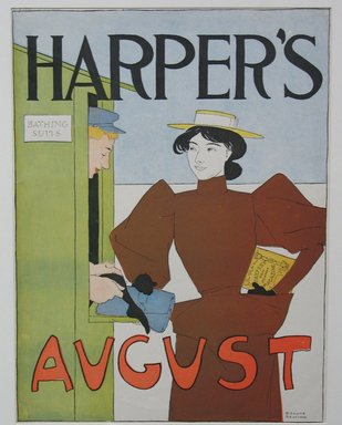 Edward Penfield (American, 1866-1925). <em>Harper's Poster - August 1894</em>, 1894. Lithograph on wove paper, Sheet: 16 3/4 x 12 3/4 in. (42.5 x 32.4 cm). Brooklyn Museum, Dick S. Ramsay Fund, 53.167.9 (Photo: Brooklyn Museum, CUR.53.167.9.jpg)