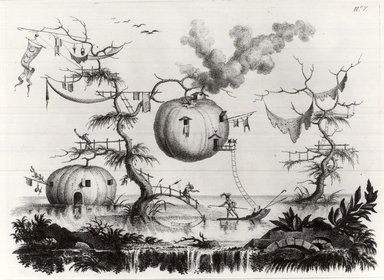 Filippo Morghen (Italian, 1730-1807). <em>Land of the Moon, Plate 8</em>, 1764. Etching on laid paper, 10 13/16 x 14 3/4 in. (27.5 x 37.5 cm). Brooklyn Museum, Frank L. Babbott Fund, 53.195.8 (Photo: Brooklyn Museum, CUR.53.195.8.jpg)