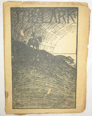 Gelett Burgess (American). <em>The Lark</em>, 1897. Newsprint, Magazine: 8 x 5 3/4 x 3/16 in. (20.3 x 14.6 x 0.5 cm). Brooklyn Museum, Gift of Mrs. H.S. Chapman, 53.196.2 (Photo: Brooklyn Museum, CUR.53.196.2.jpg)