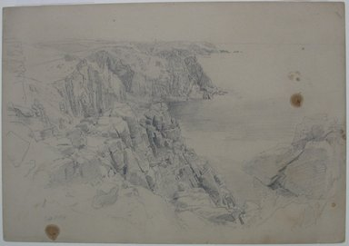 William Trost Richards (American, 1833-1905). <em>Near Land's End, Cornwall</em>, September 1, 1878. Graphite on paper, Sheet: 10 x 14 3/8 in. (25.4 x 36.5 cm). Brooklyn Museum, Bequest of Mrs. William T. Brewster, 53.242.3 (Photo: Brooklyn Museum, CUR.53.242.3.jpg)
