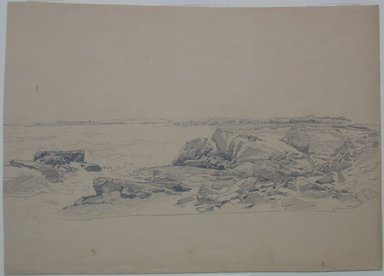 William Trost Richards (American, 1833-1905). <em>Study of Rocks, Near Newport</em>, n.d. Graphite on paper, Sheet (irregular): 10 3/8 x 14 3/8 in. (26.4 x 36.5 cm). Brooklyn Museum, Bequest of Mrs. William T. Brewster, 53.242.5 (Photo: Brooklyn Museum, CUR.53.242.5.jpg)