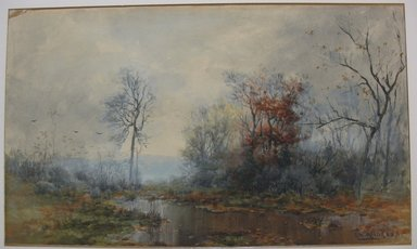 George Herbert McCord (American, 1849-1909). <em>Landscape</em>, n.d. Watercolor on paper mounted to board, Sheet: 12 3/4 x 20 7/8 in. (32.4 x 53 cm). Brooklyn Museum, Dick S. Ramsay Fund, 53.7 (Photo: Brooklyn Museum, CUR.53.7.jpg)