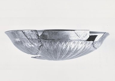 <em>Shallow Bowl with Floral Decoration</em>, ca. 410 B.C.E. Silver, 1 15/16 x Diam. 7 15/16 in. (5 x 20.2 cm). Brooklyn Museum, Charles Edwin Wilbour Fund, 54.50.33. Creative Commons-BY (Photo: Brooklyn Museum, CUR.54.50.33_NegE_print_bw.jpg)
