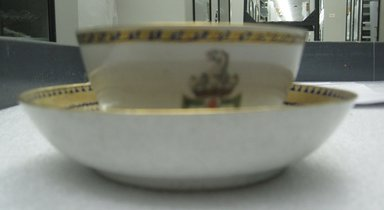 <em>Cup and Saucer</em>, 1790-1810. Porcelain, cup: 2 1/4 x 4 1/4 in. (5.7 x 10.8 cm). Brooklyn Museum, The Helena Woolworth McCann Trade Procelain Collection, Gift of the Winfield Foundation, 55.10.110a-b. Creative Commons-BY (Photo: Brooklyn Museum, CUR.55.10.110a-b_overall.jpg)