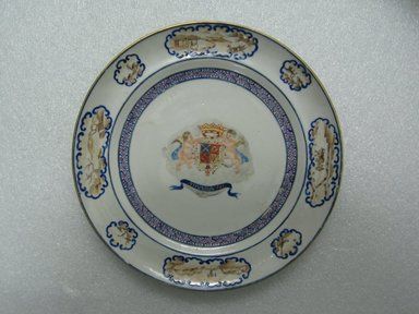 <em>Plate</em>, 1785-1800. Porcelain, 7 1/2 in. (19.1 cm). Brooklyn Museum, The Helena Woolworth McCann Trade Procelain Collection, Gift of the Winfield Foundation, 55.10.91. Creative Commons-BY (Photo: Brooklyn Museum, CUR.55.10.91_top.jpg)