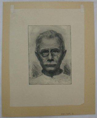 Oscar Grosch (American, 1863-1928). <em>Self Portrait</em>, 1923. Etching, Sheet: 13 1/4 x 10 13/16 in. (33.6 x 27.5 cm). Brooklyn Museum, Gift of Margaret Grosch Williams, 55.164.2 (Photo: Brooklyn Museum, CUR.55.164.2.jpg)