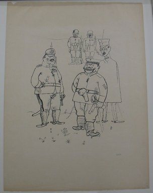 George Grosz (American, born Germany, 1893-1959). <em>For German Right and German Morals (Für Deutsches Recht und Deutsche Sitte)</em>, 1919. Lithograph, Sheet: 25 1/16 x 18 5/8 in. (63.7 x 47.3 cm). Brooklyn Museum, Gift of Dr. F.H. Hirschland, 55.165.143 (Photo: Brooklyn Museum, CUR.55.165.143.jpg)