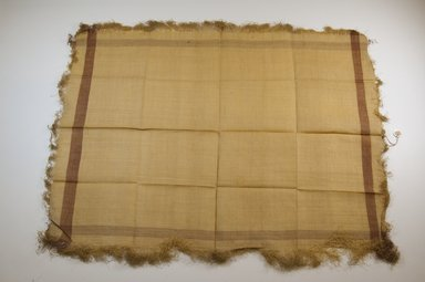 Possibly Kuba. <em>Raffia Cloth</em>. Raffia, 16 x 13 in. (40.8 x 33.2 cm). Brooklyn Museum, Gift of Mrs. M.D.C. Crawford, 55.227.13. Creative Commons-BY (Photo: Brooklyn Museum, CUR.55.227.13_top_PS5.jpg)