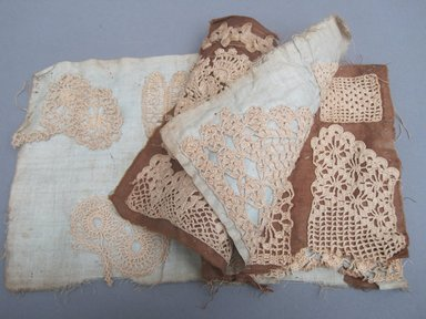 <em>Book of Samples</em>, 19th century. Lace, linen, 5 1/2 x 6 in. (14 x 15.2 cm). Brooklyn Museum, Gift of Adelaide Goan, 55.96.123a. Creative Commons-BY (Photo: Brooklyn Museum, CUR.55.96.123a.jpg)