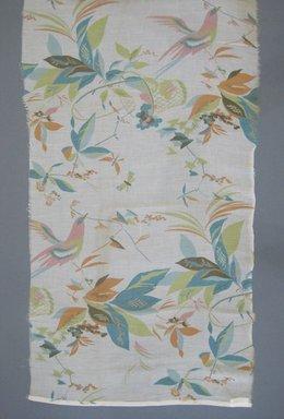 Wiener Werkstätte (Austrian, 1903-1932). <em>Textile Fragment</em>, ca.1925. Cotton voile, 18 x 49 in. (45.7 x 124.5 cm). Brooklyn Museum, Gift of Adelaide Goan, 55.96.127.10 (Photo: Brooklyn Museum, CUR.55.96.127.10.jpg)