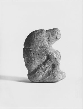<em>Statuette of Seated Cynocephalus Ape (Baboon)</em>, ca. 3100-2800 B.C.E. Faience, 1 7/8 x 1 7/16 in. (4.8 x 3.6 cm). Brooklyn Museum, Charles Edwin Wilbour Fund, 57.165.7. Creative Commons-BY (Photo: Brooklyn Museum, CUR.57.165.7_NegA_print_bw.jpg)