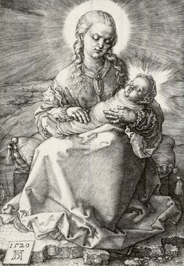 Albrecht Dürer (German, 1471-1528). <em>The Virgin with the Infant Savior in Swaddling Clothes</em>, 1520. Engraving on laid paper, 5 5/8 x 3 7/8 in. (14.3 x 9.8 cm). Brooklyn Museum, Gift of Mrs. Charles Pratt, 57.188.19 (Photo: Brooklyn Museum, CUR.57.188.19.jpg)