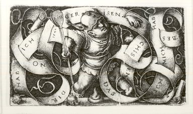 Hans Sebald Beham (German, 1500-1550). <em>The Little Fool</em>, 1542. Engraving on laid paper, 17 11/16 x 31 7/8 in. (45 x 81 cm). Brooklyn Museum, Gift of Mrs. Charles Pratt, 57.188.3 (Photo: Brooklyn Museum, CUR.57.188.3.jpg)