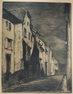 James Abbott McNeill Whistler (American, 1834-1903). <em>Street at Saverne</em>, 1858. Etching, Image: 8 1/8 x 6 1/4 in. (20.6 x 15.9 cm). Brooklyn Museum, Gift of Mrs. Charles Pratt, 57.188.61 (Photo: Brooklyn Museum, CUR.57.188.61.jpg)