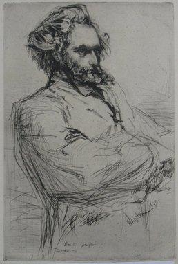 James Abbott McNeill Whistler (American, 1834-1903). <em>Drouet</em>, 1859. Drypoint, Sheet: 12 1/16 x 8 5/16 in. (30.6 x 21.1 cm). Brooklyn Museum, Gift of Mrs. Charles Pratt, 57.188.64 (Photo: Brooklyn Museum, CUR.57.188.64.jpg)