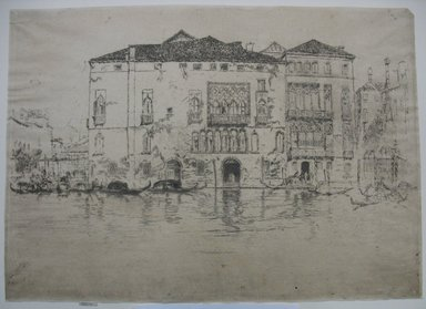 James Abbott McNeill Whistler (American, 1834-1903). <em>The Palaces</em>. Etching and drypoint on paper, Sheet (trimmed to plate): 10 1/16 x 14 in. (25.6 x 35.6 cm). Brooklyn Museum, Gift of Mrs. Charles Pratt, 57.188.67 (Photo: Brooklyn Museum, CUR.57.188.67.jpg)