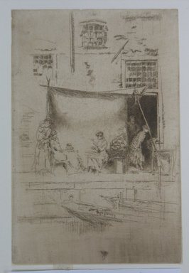 James Abbott McNeill Whistler (American, 1834-1903). <em>Fruit Stall</em>, 1886. Etching, 8 7/8 x 5 7/8 in. (22.5 x 14.9 cm). Brooklyn Museum, Gift of Mrs. Charles Pratt, 57.188.69 (Photo: Brooklyn Museum, CUR.57.188.69.jpg)