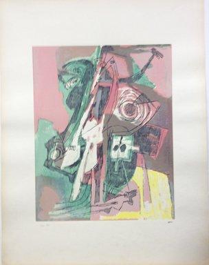 Afro Basaldella (Italian, 1912-1976). <em>[Untitled]</em>, 1955. Serigraph on paper, Sheet: 25 3/16 x 19 1/4 in. (64 x 48.9 cm). Brooklyn Museum, Carll H. de Silver Fund, 57.192.1. © artist or artist's estate (Photo: Brooklyn Museum, CUR.57.192.1.jpg)
