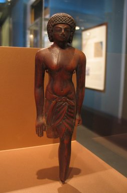 Egyptian. <em>Statuette of a Soldier</em>, ca. 1390-1353 B.C.E. Wood, pigment, Height: 8 3/8 in. (21.2 cm). Brooklyn Museum, Charles Edwin Wilbour Fund, 57.64. Creative Commons-BY (Photo: Brooklyn Museum, CUR.57.64_erg456.jpg)