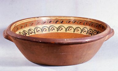 Solomon Bell (American, 1817-1882). <em>Mixing Bowl</em>, 1852-1882. Earthenware, 5 1/4 × 18 in. (13.3 × 45.7 cm). Brooklyn Museum, Gift of Huldah Cail Lorimer in memory of George Burford Lorimer, 57.75.40. Creative Commons-BY (Photo: Brooklyn Museum, CUR.57.75.40.jpg)