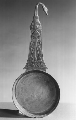 <em>Simpulum</em>, 305-30 B.C.E. Bronze, 5 7/8 × 14 5/16 in. (15 × 36.4 cm). Brooklyn Museum, Charles Edwin Wilbour Fund, 58.127. Creative Commons-BY (Photo: Brooklyn Museum, CUR.58.127_print_negA_bw.jpg)