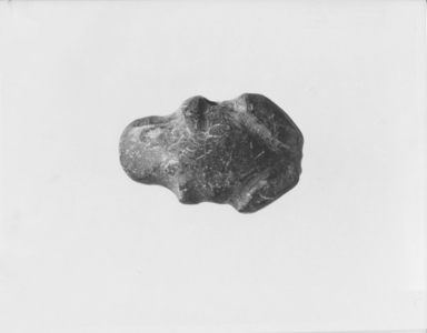 <em>Figure of a Crouching Toad</em>, ca. 4400-3100 B.C.E. Steatite, 1 1/4 × 1 7/8 in. (3.1 × 4.7 cm). Brooklyn Museum, Gift of Mr. and Mrs. Alastair Bradley Martin, 58.14.3. Creative Commons-BY (Photo: , CUR.58.14.3_NegA_print_bw.jpg)