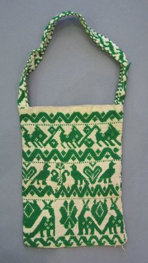 Mexican. <em>Handbag</em>, first half of 20th century. Cotton and wool, 8 x 19 in. (20.3 x 48.3 cm). Brooklyn Museum, Gift of Harry G. Friedman, 58.174.32 (Photo: Brooklyn Museum, CUR.58.174.32.jpg)