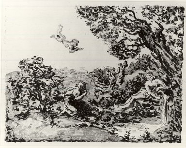 Ker-Xavier Roussel (French, 1867-1944). <em>The Source (La Source)</em>, ca. 1900. Lithograph on China paper, 14 3/16 x 18 3/8 in. (36 x 46.6 cm). Brooklyn Museum, By exchange, 58.187.2 (Photo: Brooklyn Museum, CUR.58.187.2.jpg)