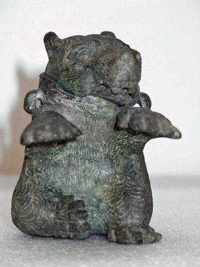 <em>Container in the Form of a Bear</em>. Bronze, 3 7/8 x Diam. 3 5/8 in. (9.8 x 9.2 cm). Brooklyn Museum, Charles Edwin Wilbour Fund, 58.97. Creative Commons-BY (Photo: , CUR.58.97_view01.jpg)
