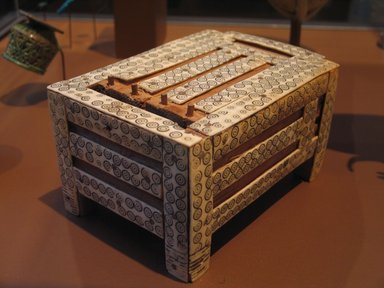 <em>Jewelry (?) Box with Separate Sliding Cover</em>, ca. 1539-1478 B.C.E. Wood, ivory, 3 3/4 x 4 7/8 x 6 5/8 in. (9.5 x 12.4 x 16.8 cm). Brooklyn Museum, Charles Edwin Wilbour Fund, 60.1.1a-b. Creative Commons-BY (Photo: Brooklyn Museum, CUR.60.1.1a-b_erg2.jpg)