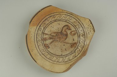 Coptic. <em>Dish with Bird Decoration</em>, 5th-6th century C.E. Clay, slip, 1 11/16 x (Diam.) 8 11/16 in. (4.3 x 22.1 cm). Brooklyn Museum, Charles Edwin Wilbour Fund, 60.1.2. Creative Commons-BY (Photo: Brooklyn Museum (in collaboration with Index of Christian Art, Princeton University), CUR.60.1.2_ICA.jpg)