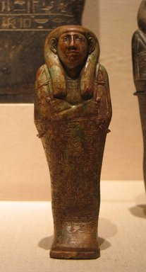 Egyptian. <em>Funerary Figurine of Petamenophis</em>, ca. 670-650 B.C.E. Steatite, glaze, Height: 6 7/16 in. (16.3 cm). Brooklyn Museum, Charles Edwin Wilbour Fund, 60.10. Creative Commons-BY (Photo: Brooklyn Museum, CUR.60.10_wwg8.jpg)