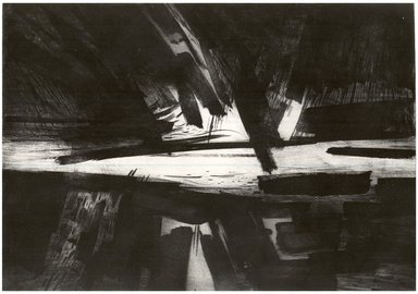 Gabor Peterdi (American, born Hungary, 1915-2001). <em>The Storm</em>, 1958. Etching, engraving, lift ground on zinc on paper, image: 21 7/8 x 31 7/8 in. (55.6 x 81 cm). Brooklyn Museum, Dick S. Ramsay Fund, 60.17.2. © artist or artist's estate (Photo: Brooklyn Museum, CUR.60.17.2.jpg)