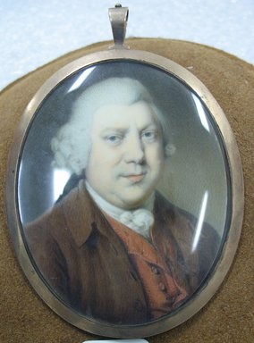 Unknown. <em>Portrait of Sir Richard Arkwright</em>, n.d. Watercolor on ivory portrait in metal locket with glass lens, Image (sight): 2 3/4 x 2 3/16 in. (7 x 5.6 cm). Brooklyn Museum, Gift of Mrs. William Randolph Hearst, Jr., 61.144.2 (Photo: Brooklyn Museum, CUR.61.144.2.jpg)