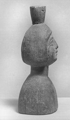 <em>Female Head and Bust</em>. Wood, 7 in. (17.8 cm). Brooklyn Museum, Gift of Royal-Athena Galleries, 61.194. Creative Commons-BY (Photo: Brooklyn Museum, CUR.61.194_NegL160_4_print_bw.jpg)