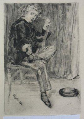 James Abbott McNeill Whistler (American, 1834-1903). <em>Arthur Haden</em>, 1869. Etching, Sheet: 12 7/8 x 9 9/16 in. (32.7 x 24.3 cm). Brooklyn Museum, Gift of Dr. and Mrs. Frank L. Babbott, Jr., 62.110.2 (Photo: Brooklyn Museum, CUR.62.110.2.jpg)