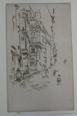 James Abbott McNeill Whistler (American, 1834-1903). <em>Chancellerie, Loches</em>. Etching on paper, Sheet (trimmed to plate): 10 5/8 x 6 1/2 in. (27 x 16.5 cm). Brooklyn Museum, Gift of Dr. and Mrs. Frank L. Babbott, Jr., 62.110.3 (Photo: Brooklyn Museum, CUR.62.110.3.jpg)