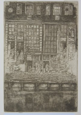 James Abbott McNeill Whistler (American, 1834-1903). <em>The Embroidered Curtain</em>. Etching, 9 3/8 x 6 1/4 in. (23.8 x 15.9 cm). Brooklyn Museum, Gift of Dr. and Mrs. Frank L. Babbott, Jr., 62.110.4 (Photo: Brooklyn Museum, CUR.62.110.4.jpg)