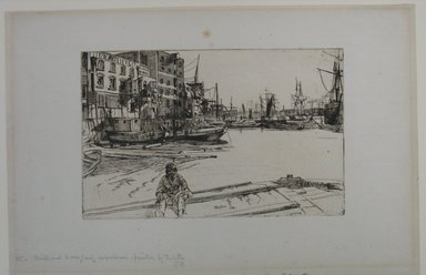 James Abbott McNeill Whistler (American, 1834-1903). <em>Eagle Wharf</em>, 1859. Etching, Sheet: 8 7/8 x 13 5/16 in. (22.5 x 33.8 cm). Brooklyn Museum, Gift of Dr. and Mrs. Frank L. Babbott, Jr., 62.110.5 (Photo: Brooklyn Museum, CUR.62.110.5.jpg)