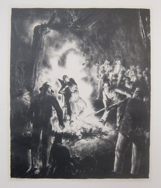 George Wesley Bellows (American, 1882-1925). <em>The Law is Too Slow</em>, 1923. Lithograph on wove paper, Image: 17 11/16 x 14 9/16 in. (45 x 37 cm). Brooklyn Museum, Gift of Chester Dale, 63.155.17. © artist or artist's estate (Photo: Brooklyn Museum, CUR.63.155.17.jpg)