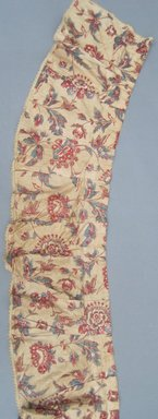 <em>Valances and One Piece of Extra Yardage</em>, ca.1800. Chintz, component a: 11 1/2 x 110 in. (29.2 x 279.4 cm). Brooklyn Museum, Gift of Mae Schenck, 63.4.19a-h. Creative Commons-BY (Photo: Brooklyn Museum, CUR.63.4.19a.jpg)