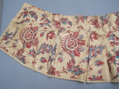 <em>Valances and One Piece of Extra Yardage</em>, ca.1800. Chintz, component a: 11 1/2 x 110 in. (29.2 x 279.4 cm). Brooklyn Museum, Gift of Mae Schenck, 63.4.19a-h. Creative Commons-BY (Photo: Brooklyn Museum, CUR.63.4.19e.jpg)