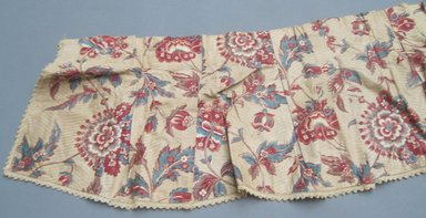 <em>Valances and One Piece of Extra Yardage</em>, ca.1800. Chintz, component a: 11 1/2 x 110 in. (29.2 x 279.4 cm). Brooklyn Museum, Gift of Mae Schenck, 63.4.19a-h. Creative Commons-BY (Photo: Brooklyn Museum, CUR.63.4.19g.jpg)