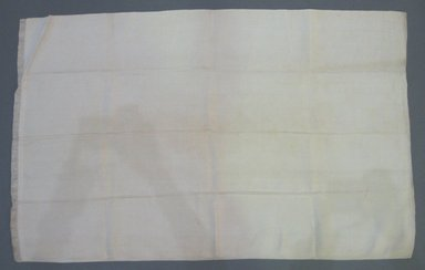 American. <em>Pillowcase</em>, late 18th century. Linen, 30 x 19 in. (76.2 x 48.3 cm). Brooklyn Museum, Gift of Mae Schenck, 63.4.22. Creative Commons-BY (Photo: Brooklyn Museum, CUR.63.4.22.jpg)