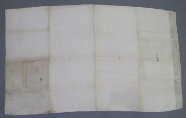 American. <em>Pillowcase</em>, ca.1779. Linen, 18 3/4 x 30 3/4 in. (47.6 x 78.1 cm). Brooklyn Museum, Gift of Mae Schenck, 63.4.24. Creative Commons-BY (Photo: Brooklyn Museum, CUR.63.4.24.jpg)