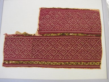 Chancay. <em>Textile Fragment, undetermined</em>, 1000-1532. Cotton, camelid fiber, 14 1/2 × 23 3/4 in. (36.8 × 60.3 cm). Brooklyn Museum, Gift of Jack Lenor Larsen, 63.81.15. Creative Commons-BY (Photo: , CUR.63.81.15.jpg)