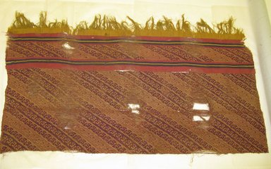 Chimú. <em>Textile Fragment, undetermined or possible Mantle</em>, 1000-1532. Cotton, camelid fiber, 30 5/16 x 51 9/16in. (77 x 131cm). Brooklyn Museum, Gift of Jack Lenor Larsen, 63.81.16. Creative Commons-BY (Photo: Brooklyn Museum, CUR.63.81.16.jpg)