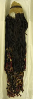 Coastal Wari. <em>Wig Headdress</em>, 600-1000 C.E. Camelid fiber, 35 7/16 x 5 7/8in. (90 x 15cm). Brooklyn Museum, Gift of Jack Lenor Larsen, 63.81.3. Creative Commons-BY (Photo: Brooklyn Museum, CUR.63.81.3.jpg)