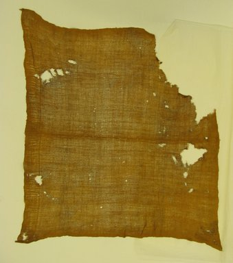 Chimú. <em>Headcloth, Fragment</em>, 1000-1532. Cotton, 30 11/16 x 35 7/16 in. (78 x 90 cm). Brooklyn Museum, Gift of Jack Lenor Larsen, 63.81.6. Creative Commons-BY (Photo: Brooklyn Museum, CUR.63.81.6.jpg)